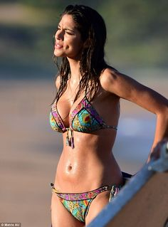 Pia Miller Puts On A Busty Display As She Hits The Beach