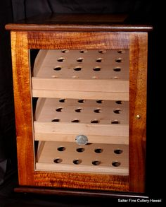 Custom hand-crafted humidors made to order by SalterFineCutlery.com