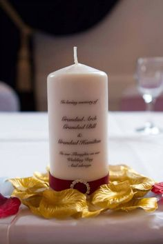 Wedding Absence Memorial Candle
