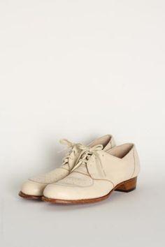 vintage leather oxford