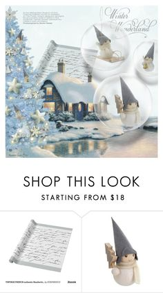 """""""Untitled #1203"""" by blackfury ❤ liked on Polyvore featuring interior, interiors, interior design, home, home decor, interior decorating, Christmas, Blue, homedecor and holidaytree"""