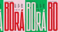 Borá Posters for the short film Borá, directed by Angelo Defanti. For years Borá reigned supreme as the least populated municipality in Brazil. Film Font, Movie Poster Font, Movie Posters, Graphic Posters, Typography Logo, Typography Design, Graphic Design Print, Short Film, Neon Signs