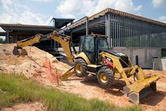 The new Cat 450F backhoe loader offers a 17-ft. 3-in. to 21-ft. 4-in. dig depth