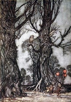 The Fox Wood - Peter Pan in Kensington Gardens  - Arthur Rackham