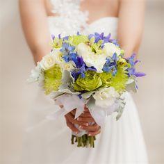 Green+&+Blue+Bridal+Bouquet