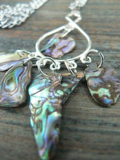 resort wear abalone necklace abalone on chandelier summer cruise wear gypsy boho hippie style. $28.00, via Etsy.