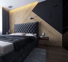 Top 70 Best Wood Wall Ideas - Wooden Accent Interiors Small Bedroom Ideas - All the bedroom design ideas you'll ever need. Find your style and create your dream bedroom scheme no matter what your spending plan, style or area size. Men's Bedroom Design, Bedroom Wall Designs, Bedroom Decor, Bedroom Ideas, Wooden Bedroom, Bed Room Design Modern, Modern Bed Designs, Accent Wall Designs, Cosy Bedroom