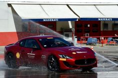 Ferrari's stewardship of Maserati has resulted in several interesting cars, powered by Ferrari-engineered and -assembled V6s and V8s that yowl and scream the way an Italian engine should. Maserati is Ferrari's alter ego, purveyor of spirited but comfortable sedans, GTs and now SUVs. ABOVE: A wet skid pad at the Maserati [...]