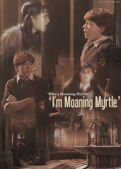 'I'm Moaning Myrtle'. Harry Potter Facts, Harry Potter Quotes, Harry Potter Books, Harry Potter Love, Harry Potter Universal, Harry Potter World, Harry Potter Characters, Hp Quotes, Moaning Myrtle