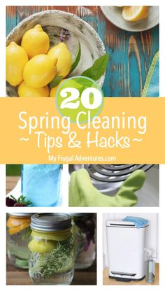 Quick hacks and tips for Spring Cleaning.  Time to get organized!
