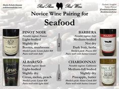 If you're having seafood for Valentine's Day this weekend, here are my wine…