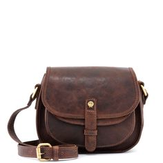 The Dawes Brown Leather Across Body Bag by Yoshi 6df45356d2797