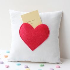 Make this cute pillow to leave notes for your loved one!