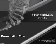 Free Stop Smoking PowerPoint Template with dark background