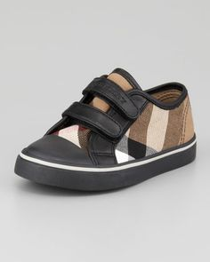 be810975b328 Burberry Check Double-Strap Sneaker