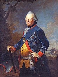 """Frederick II (German: Landgraf Friedrich II von Hessen-Kassel) (14 August 1720 – 31 October 1785) was Landgrave of Hesse-Kassel (or Hesse-Cassel) from 1760 to 1785. He ruled as an enlightened despot, and raised money by renting soldiers (called """"Hessians"""") to Great Britain to help fight the American Revolutionary War. He combined Enlightenment ideas with Christian values, cameralist plans for central control of the economy, and a militaristic approach toward international diplomacy."""