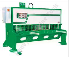 The hydraulic shearing machine has a squaring arm on left and right side with hardened lines for even load distribution. The front gauging has stops and scales on squaring arm. The recessed table includes hardened rods to feed sheets easily. The sheet is supported by long plates; and the ramp on back side slides to allow cutting sheets outside shear area. It also has a finger safety guard that provides clear view of cutting area.Visit - http://www.bhavyamachinetools.com/shearing-machine.html