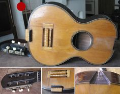 Rare Terz guitar, modified by Napoleon Coste