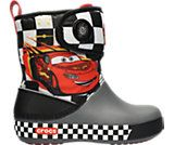 Want to find these so bad for tiny man!:  Kids' Crocband™ II.5  Cars® Gust Boot Lightning McQueen™  Kids' Boots   Crocs Official Site