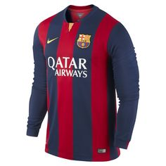 ef8d29d28d Nike Barcelona Long Sleeve Home Jersey The FC Barcelona Stadium Home Men s  Soccer Jersey is made with sweat-wicking fabric for lightweight comfort.