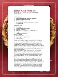 Pin by tiffani doherty on magazine recipes pinterest recipe recipe cards magazines butter pecan toffee pie forumfinder Choice Image