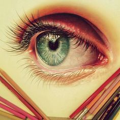 painting reference - eyes colored pencil drawing realistic