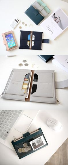 This is a very functional wallet with a simplistic design! It features 4 card slots, 2 open pockets and 2 zippered pockets where you can store cards, bills, receipts, and coins neatly. One of its zippered pockets has a clear window where you can store your phone and use while carrying it! The Double Zipper Wallet is a perfect everyday wallet and works great as a travel wallet too! Fashion Accessories, Travel Accessories, Jewelry Accessories, Things To Buy, Stuff To Buy, Woodworking Store, Unique Woodworking, Baggage, Purse Wallet