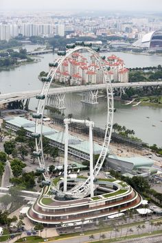 View of the Singapore Flyer from the Marina Bay Sands Hotel, Singapore