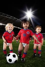 """Soccer is a sport that's great for athletes of all ages, but many parents often ask us at Avila Creative Soccer the question, """"Is my kid too young to start playing a sport?""""  Find out the right age for your child to start playing a sport in today's blog post! http://avilasoccer.com/blog.html"""