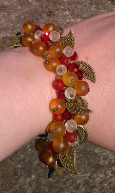 autumn coloured cluster bracelet