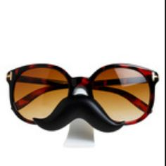 I would totally rock these mustache glasses!