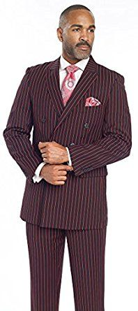 Men's Suits Red Black Stripe Christmas wear Holiday Holidays Idea order online Double Breasted Suit M2701 Fashion Man EJ Samuel at Amazon Men's Clothing store: holiday Christmas
