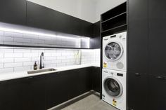 The Block 2016 – Week 11 Challenge Reveal 2 The Block 2016, The Block Kitchen, Laundry Room Design, Laundry Rooms, Cozy Backyard, Room Wall Decor, Home Reno, Interior Design Kitchen, Living Room Designs