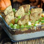 This easy to make taco dip recipe will haunt your Halloween ParTea Chili Seasoning, Taco Dip, Dip Recipes, Serving Dishes, Feta, Dips, Tacos, Halloween, Ethnic Recipes