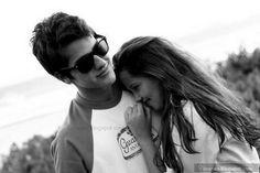Hug teen couple shy girl cute love