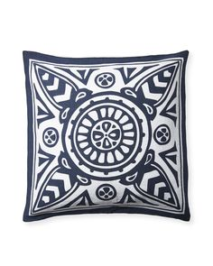 We've taken one of our signature bedding patterns and rescaled it for the living room and beyond. Mix it with other prints when you want to punch things up, or let it stand alone as a striking graphic. (Fun fact: This medallion pattern, based on a vintage scarf print, was one of Serena's first designs. It debuted as part of her early block-printed textile collection, and has been beloved ever since.)