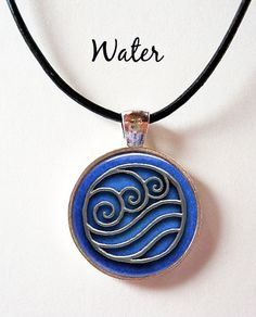 Last Airbender Elements Symbol Pendant Water