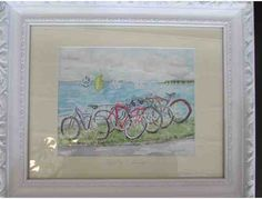 Kay Winslow Painting 'Bicycling & Sailing'