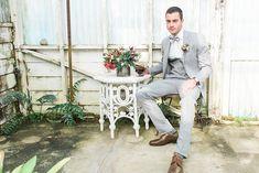 grooms - photo by Yasmin Roohi http://ruffledblog.com/botanical-greenhouse-wedding-inspiration
