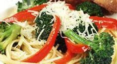 Linguine with Broccoli and Red Capsicum