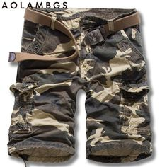 Aolamegs Casual Camo Shorts Mens Sporting Trunks Bodybuilding Cargo Shorts 2016 Summer High Quality Camoflage Beach Short Homme