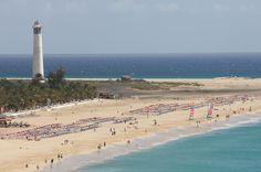 """Vistas a la playa de Jandía desde lo alto del """"Morrete"""" en Morro Jable - Fuerteventura"""