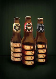 dessin biere: typographie monochrome hippie vintage label ...