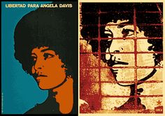 Cuban artist Félix Beltrán on left 1971 silk screen print.  On right Sheppard Fairey's version of the print.