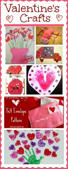 Valentines Crafts for Kids, an entire list of links for crafts!  I especially like the shaving cream crafts!