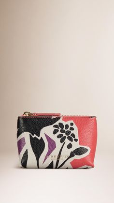 Book Cover Print Leather Beauty Clutch Bag Dark Damson | Burberry