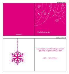 #kerstkaarten, #kerstkaartje, #Modern #kerst #kaart #christmas #ontwerpen #zelfontwerpen #sneeuwvlok, #slingers #kralen #roze #wit