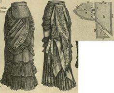 Tygodnik Mód 1879.: Panier tunique.