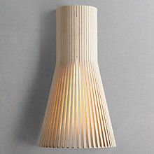Buy Secto 4231 Wall Light, Natural Online at johnlewis.com