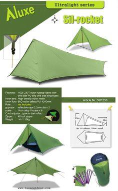 Luxe outdoor ultralight tarp tent